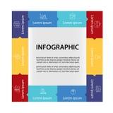 Het malplaatje van het Infographicontwerp Stock Fotografie