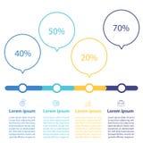 Het malplaatje van het Infographicontwerp Stock Foto