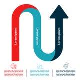 Het malplaatje van het Infographicontwerp Royalty-vrije Stock Fotografie