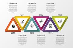 Het malplaatje van het Infographicontwerp Chronologie Bedrijfs concept Vector illustratie Royalty-vrije Stock Afbeelding