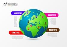Het malplaatje van het Infographicontwerp Creatief wereldconcept Vector Stock Fotografie
