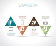 Het Malplaatje van het Infographicontwerp met moderne vlakke stijl. Stock Foto's