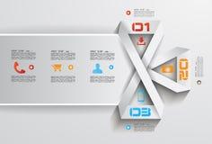 Het Malplaatje van het Infographicontwerp met moderne vlakke stijl Stock Fotografie
