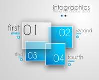 Het Malplaatje van het Infographicontwerp met moderne vlakke stijl Stock Afbeeldingen