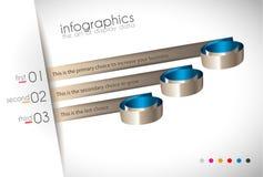 Het Malplaatje van het Infographicontwerp met moderne vlakke stijl Royalty-vrije Stock Afbeelding