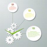 Het Malplaatje van het Infographicontwerp met tandrad. royalty-vrije illustratie