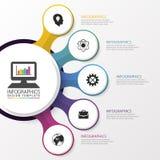Het malplaatje van het Infographicontwerp Moderne stijl Vector illustratie Royalty-vrije Stock Foto