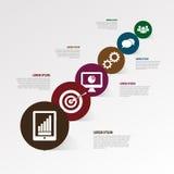 Het malplaatje van het Infographicontwerp voor uw gegevens Stock Foto