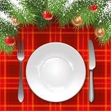 Het malplaatje van het Kerstmismenu Royalty-vrije Stock Afbeelding