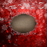 Het malplaatje van het Kerstmisuithangbord Eps 10 Royalty-vrije Stock Afbeeldingen