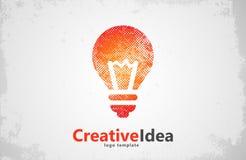 Het malplaatje van het Lightbulbembleem pictogram Samenvatting creatief Stock Foto's