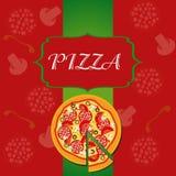 Het Malplaatje van het Menu van de pizza Royalty-vrije Stock Foto
