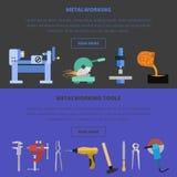 Het malplaatje van het Metaworkingsconcept Royalty-vrije Stock Afbeelding