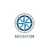 Het malplaatje van het navigatieembleem met kompas Royalty-vrije Stock Foto's