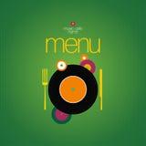 Het malplaatje van het Ontwerp van de Kaart van het menu. Royalty-vrije Stock Fotografie