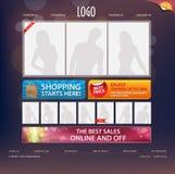 Het Malplaatje van het Ontwerp van de website Stock Foto