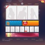 Het Malplaatje van het Ontwerp van de website Royalty-vrije Stock Foto