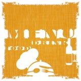 Het malplaatje van het restaurantmenu op het textuur achtergrondpatroon vector illustratie
