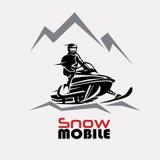 Het malplaatje van het sneeuwscooterembleem Stock Foto