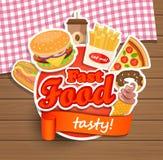 Het malplaatje van het snel voedselontwerp Stock Afbeeldingen
