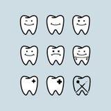 Het malplaatje van het tandartsembleem Stock Afbeelding