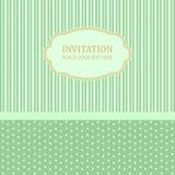Het malplaatje van het uitnodigingsontwerp Stock Afbeelding