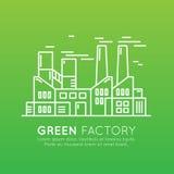 Het Malplaatje van het Webontwerp met dunne lijnpictogrammen van milieu, duurzame energie, duurzame technologie, recycling, ecolo Royalty-vrije Stock Foto's