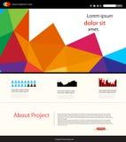 Het malplaatje van het websiteontwerp Stock Foto