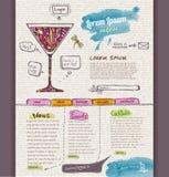 Het malplaatje van het websiteontwerp cocktail Royalty-vrije Stock Fotografie