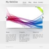 Het malplaatje van het websiteontwerp - grayscale versie Stock Afbeelding