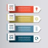 Het Malplaatje van Infographic Gebogen document pijlen Royalty-vrije Stock Fotografie