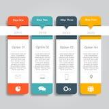 Het Malplaatje van Infographic kan voor werkschemalay-out, diagram, bedrijfsstapopties, banner, Webontwerp worden gebruikt Royalty-vrije Stock Foto's