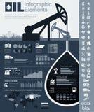 Het Malplaatje van Infographic van de olieindustrie Royalty-vrije Stock Fotografie