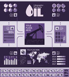 Het Malplaatje van Infographic van de olieindustrie Stock Foto