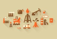 Het Malplaatje van Infographic van de olieindustrie Royalty-vrije Stock Afbeeldingen