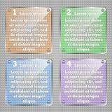 Het Malplaatje van Infographic Vector glazige vierkante infographic elementen Stock Foto's