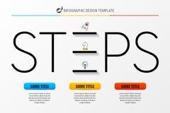 Het malplaatje van het Infographicontwerp met 3 stappen Vector royalty-vrije illustratie