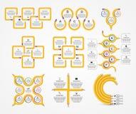 Het malplaatje van inzamelingsinfographics Infographics voor bedrijfspresentaties of informatiebanner Royalty-vrije Stock Afbeelding