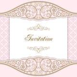 Het malplaatje van Nvitation met abstracte bloemen Royalty-vrije Stock Afbeelding