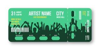 Het malplaatje van het overlegkaartje Het overleg, de partij, de disco of de ontwerpsjabloon van het festivalkaartje met mensen o stock fotografie