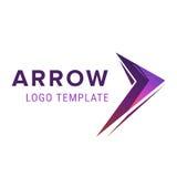Het malplaatje van het pijlembleem Abstracte Zaken Logo Icon Design Template met Pijl Stock Illustratie