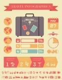 Het Malplaatje van reisinfographic. Royalty-vrije Stock Foto
