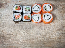 Het malplaatje van sushi royalty-vrije stock foto