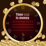 Het malplaatje van tijd is geld Vector Illustratie