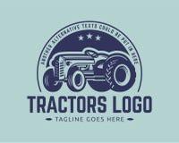 Het malplaatje van het tractorembleem, de vector van het landbouwbedrijfembleem Royalty-vrije Stock Foto's