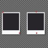 Het malplaatje van het vierkantenkader met schaduwen isoleerde vector vastgestelde inzameling - Vector royalty-vrije stock fotografie