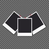 Het malplaatje van het vierkantenkader met schaduwen isoleerde vector vastgestelde inzameling - Vector stock foto