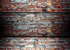 Het malplaatjeachtergrond van de baksteen Stock Foto