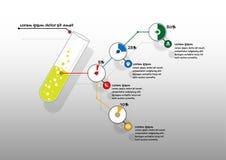 Het malplaatjeachtergrond van de wetenschaps infographic presentatie royalty-vrije illustratie