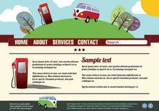 Het malplaatjeelementen van de website, uitstekende stijl Stock Afbeeldingen